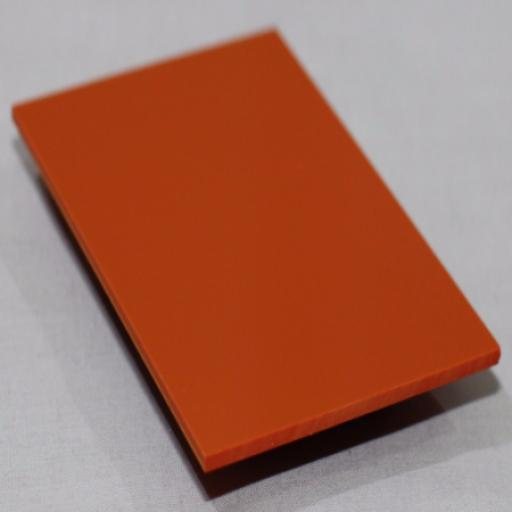 2.5mm Gloss Orange PVC Sheet 2.44m x 1.22m
