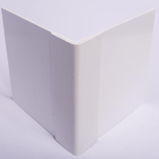 White Hygienic Wall Cladding External Angle