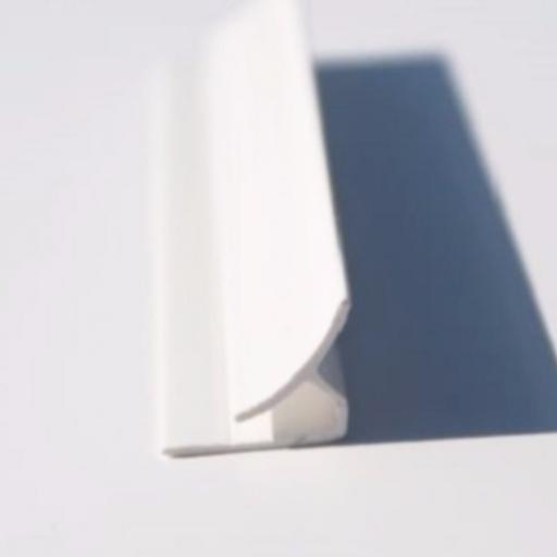 White Hygienic Wall Cladding Internal Corner Joint