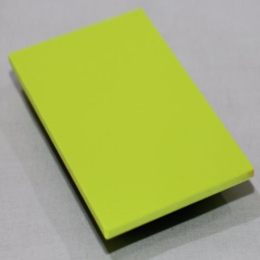 2.5mm Gloss Lime Green PVC Sheet 3.05m x 1.22m