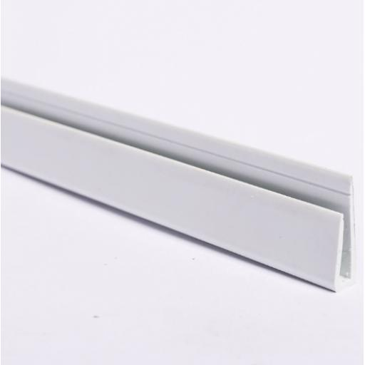 White Hygienic Wall Cladding Capping Strip