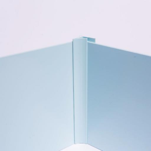 Pastel Blue Wall Cladding Internal Corner Joint