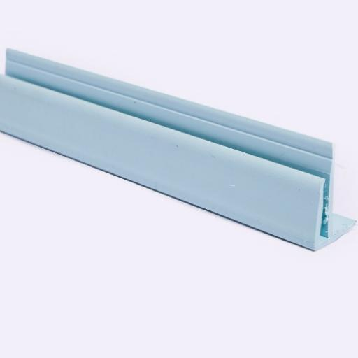 Pastel Blue Wall Cladding External Corner Joint